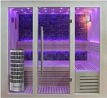 EO-SPA Sauna E1216A Pappelholz 200x120 6.8kW