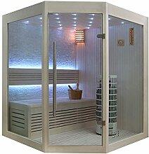 EO-SPA Sauna E1219B helle Pinie/140x140/6.8kW