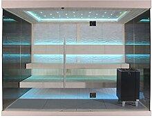 EO-SPA Sauna E1240E Pappelholz 200x180 9kW EOS Cubo