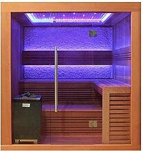 EO-SPA Sauna E1241A rote Zeder 220x170 9kW EOS Cubo