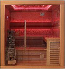 EO-SPA Sauna E1241A rote Zeder 220x170 9kW Kivi
