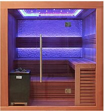 EO-SPA Sauna E1241C rote Zeder 180x170 9kW EOS Cubo