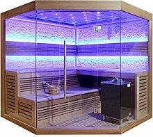 EO-SPA Sauna E1242A rote Zeder/220x220/9kW EOS Cubo