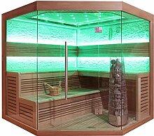 EO-SPA Sauna E1242B rote Zeder/200x200/9kW Kivi