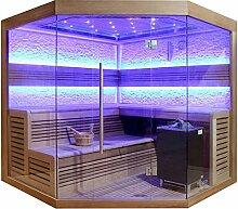 EO-SPA Sauna E1242C rote Zeder 180x180 9kW EOS Cubo