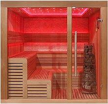 EO-SPA Sauna E1243B rote Zeder/200x180/9kW Kivi