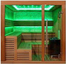 EO-SPA Sauna E1243C rote Zeder/180x160/9kW EOS Cubo
