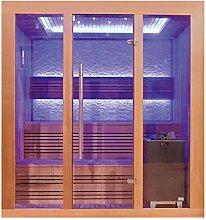 EO-SPA Sauna E1244B rote Zeder/180x150/9kW EOS Cubo