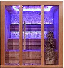 EO-SPA Sauna E1244B rote Zeder/180x150/9kW Kivi
