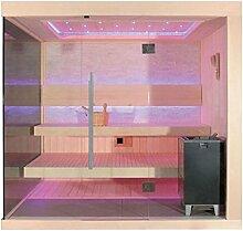 EO-SPA Sauna E1245A Pappelholz/220x180/9kW EOS Cubo