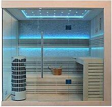 EO-SPA Sauna E1246A Pappelholz 220x180 9kW Cilindro