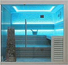EO-SPA Sauna E1246C Pappelholz 180x180 9kW Kivi