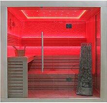 EO-SPA Sauna E1247B helle Pinie/200x180/9kW Kivi