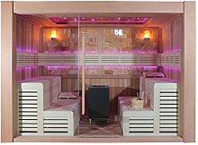 EO-SPA Sauna E1400D rote Zeder 300x200 12kW EOS Cubo