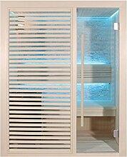 EO-SPA Sauna E1410B Pappelholz/150x105/6.8kW Cilindro