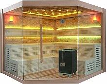 EO-SPA Sauna E1415 XL rote Zeder/250x250/9kW EOS