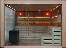 EO-SPA Sauna E1416B rote Zeder/250x250/12kW EOS