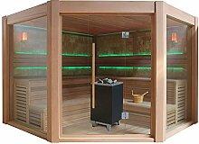 EO-SPA Sauna E1501A rote Zeder/300x300/12kW EOS