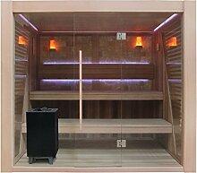 EO-SPA Sauna E1502B rote Zeder/250x200/12kW EOS Cubo