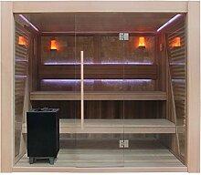 EO-SPA Sauna E1502C rote Zeder/200x180/9kW EOS Cubo