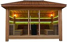 EO-SPA Sauna LT1400A rote Zeder/450x350/15.8kW Vitra