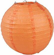 EOZY 1x Orange Lampions Japankugel Papierlampe