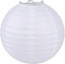 EOZY 5er Weiß Lampions Japankugel Papierlampe Papierleuchte Papierlaterne Durchmesser:30cm