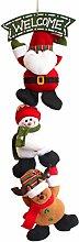 EOZY Kreativ Weihnachtsanhänger Weihnachtsdeko mit 3 Figuren WELCOME