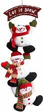 EOZY Kreativ Weihnachtsanhänger Weihnachtsdeko mit 3 Figuren Let it Snow
