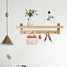 Epeanhome Wand Bücherregal Bambus Garderobe Fuer