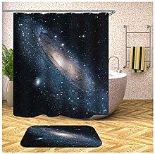 Epinki Duschvorhang & Badezimmerteppich Set