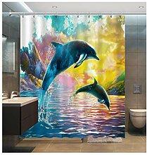 Epinki Duschvorhang Polyester Delphine Design