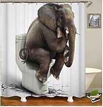 Epinki Duschvorhang Polyester Elefant Design