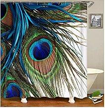 Epinki Duschvorhang Polyester Feder Design Vorhang