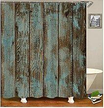 Epinki Duschvorhang Polyester Holz Design Vorhang