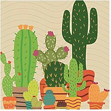 Epinki Duschvorhang Polyester Kaktus2 Design