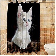 Epinki Duschvorhang Polyester Katze Design Vorhang