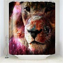 Epinki Duschvorhang Polyester Löwe Design Vorhang
