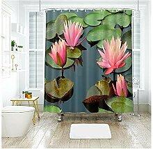 Epinki Duschvorhang Polyester Lotus Design Vorhang