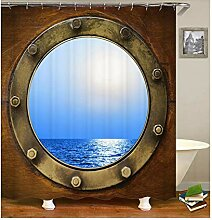 Epinki Duschvorhang Polyester Meer Design Vorhang