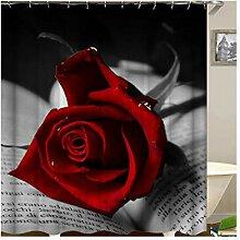 Epinki Duschvorhang Polyester Rose Design Vorhang