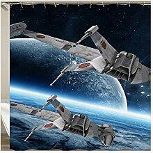 Epinki Duschvorhang Polyester Satellit Design