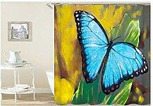 Epinki Duschvorhang Polyester Schmetterling Design
