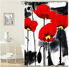 Epinki Duschvorhang Polyester Tinte Design Vorhang