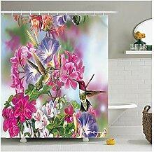 Epinki Duschvorhang Polyester Vogel Design Vorhang
