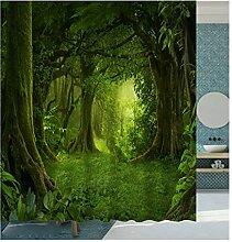 Epinki Duschvorhang Polyester Wald Design Vorhang