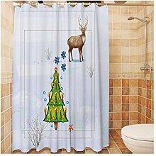 Epinki Duschvorhang Polyester Weihnachtensbaum