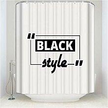 Epinki Duschvorhang Polyester Worts Design Vorhang