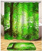 Epinki Duschvorhang Pongee Baum Design Vorhang