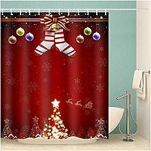 Epinki Duschvorhang Pongee Weihnachtsstrumpf